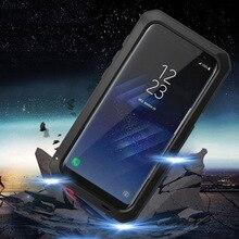 Anti Shock Hybrid Tough HeavyโลหะกันกระแทกกรณีเกราะสำหรับSamsung Galaxy S8 S9 S10 Plus S10e S7 S6หมายเหตุ9 8ป้องกัน