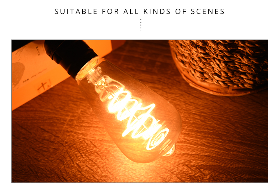 A60 ST64 G80 G95 Spiral LED Lamp Light Bulb LED Filament Bulb (10)
