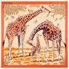 130cm 130cm Sciarpa Donna Luxury Brand Women Natural Silk Designer Scarves Female Wrap Square Animal Pattern