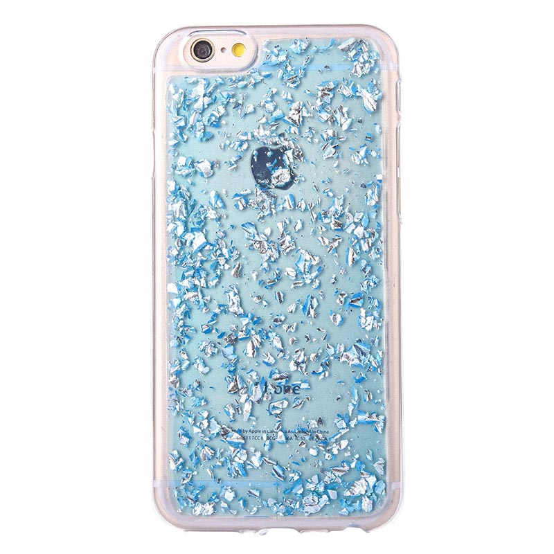 b545c32082d Glitter flake silicone case for iphone se 5 6 s funda hoesje Cute shining  tpu cover for iphone 7 8 plus coque etui kryt tok husa