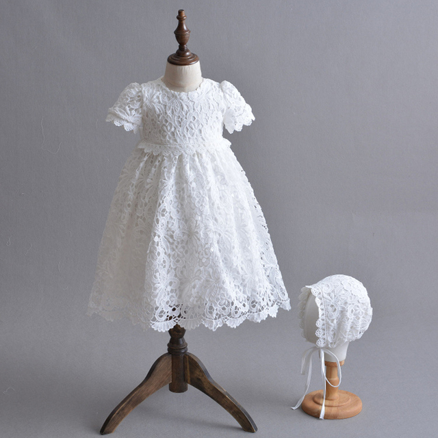 c54004ee3ed13 US $33.1 |Christening Gown Embroidered Baptism Dress with Bonnet Hat/Cape  Coat Newborn Baby Long Dress Special Occasion Outfits A015 Robe-in Dresses  ...