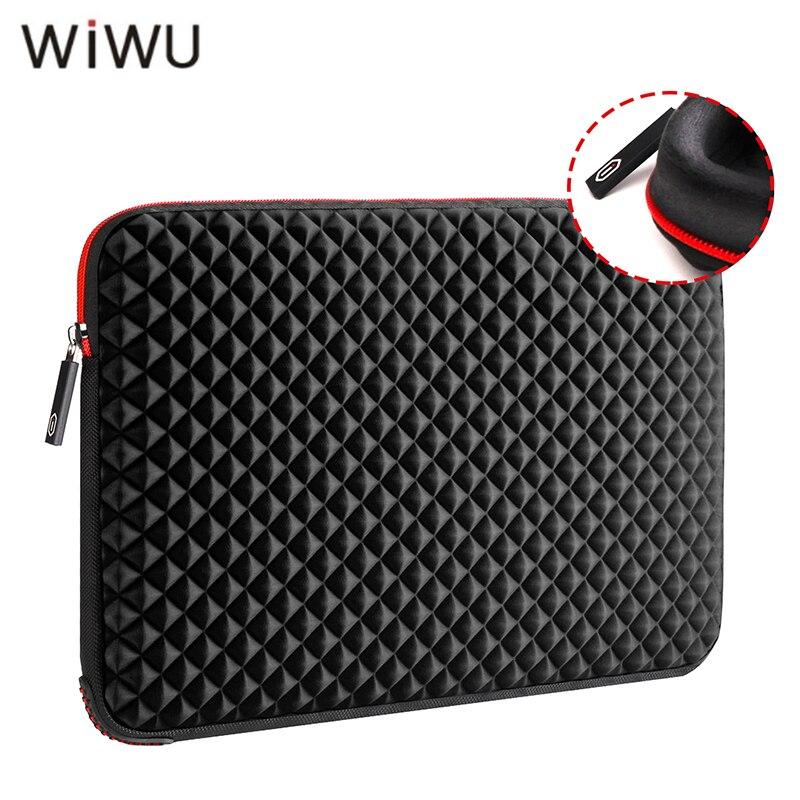 WIWU 13 13,3 15 15,6 17 17,3 zoll Laptop Sleeve Wasserdicht Stoßfest Schwarz Notebook Tasche Für Macbook Pro Xiaomi huawei etc