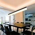 Простая длинная светодиодная Люстра для ресторана  современный креативный бар для студии  офиса  прямоугольная лампа для столовой  бесплат...