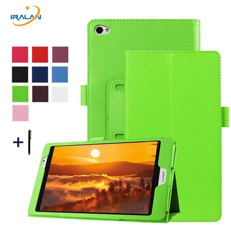 2018 Новый PU личи шаблон кожаный чехол для Huawei MediaPad M2 M2-801W M2-803L Tablet Флип сложенном подставка Защитная крышка