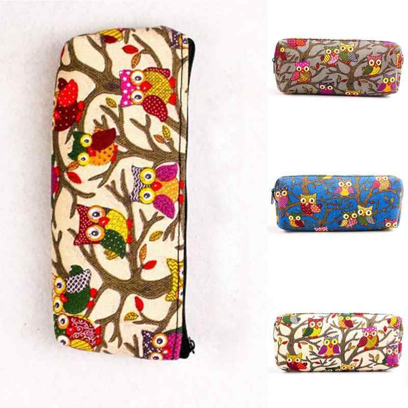 Милые модные с принтом Совы Косметика Make Up сумка чехол для хранения милый мультфильм мешок стационарных мешок студент подарок сумка