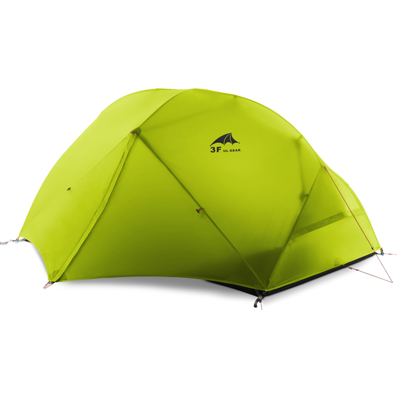 DHL Бесплатная 3F UL Шестерня 2 человека кемпинговая палатка 210 T/15D силиконовая ткань двухслойная кемпинговая палатка легкая