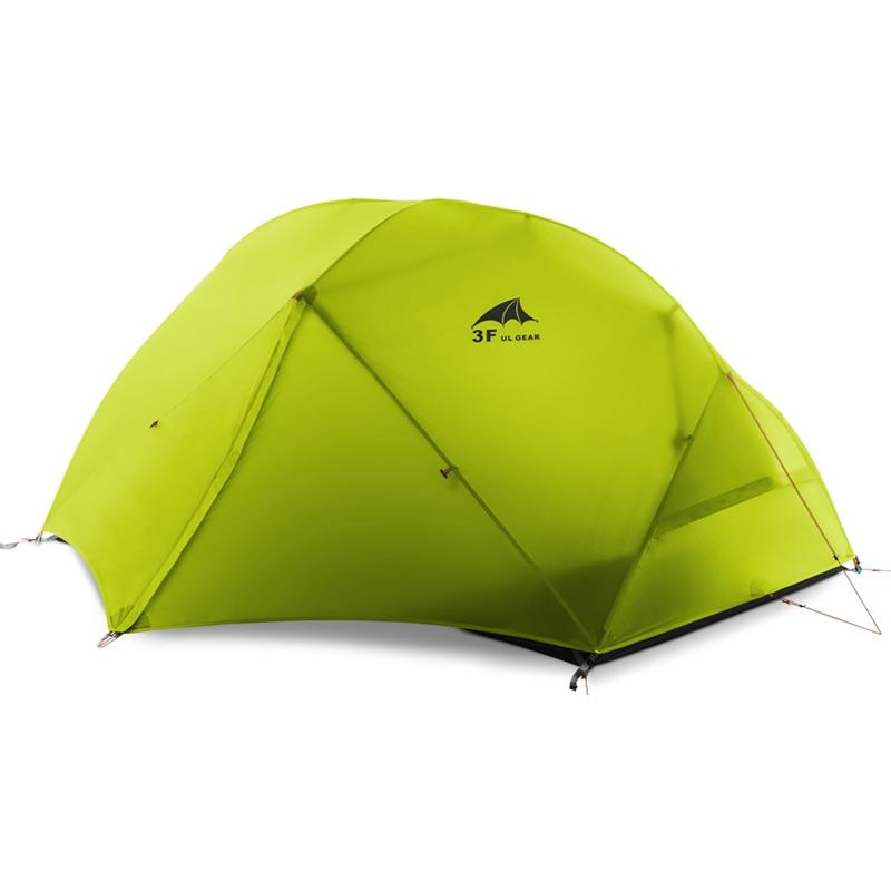 DHL livraison gratuite 3F UL GEAR 2 personnes Camping tente 210 T/15D Silicone tissu Double couche Camping tente léger