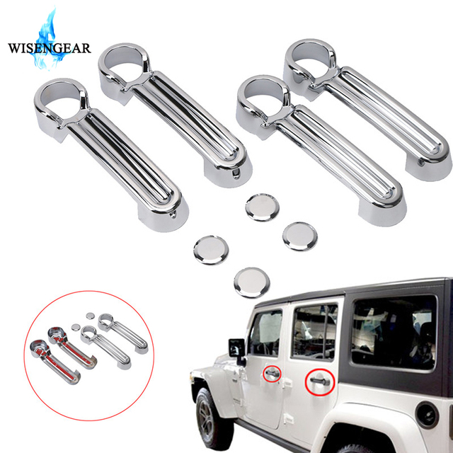 WISENGEAR Triple Chrome Plated 4 Door Handle Covers For JEEP ...