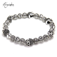 Thomas Skulls And Cross Karma Bead Bracelet From Rebel At Heart Collection European TS Style Fashion