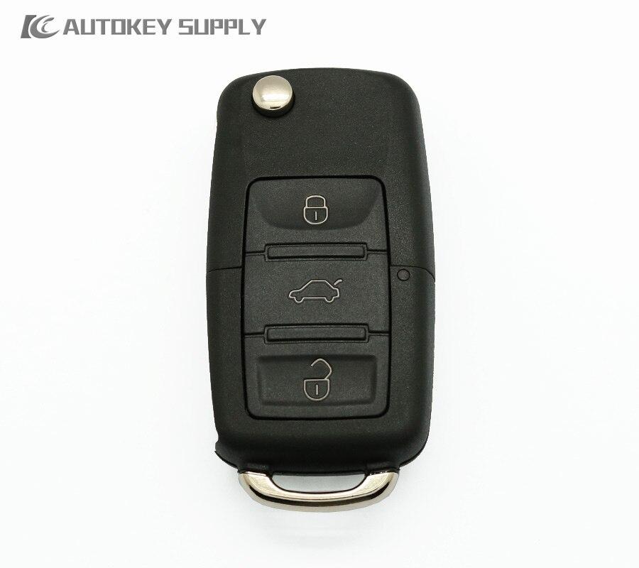 imágenes para Envío gratis Car-styling para Chave Canivete VW Polo + Placa + Chip de Positrones + Doble programa (PX32/EX300) para la llave del coche