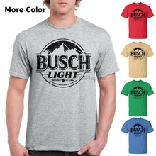 fb6be9774d Busch Light Beer T-Shirt Custom Designed Black Worn Label Pattern(China)