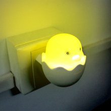 Lovely EU/US Plug Yellow Duck LED Night Light Lamp Wall Socket Light Control Sensor Children's Gift Bedroom Cartoon Decor Lamp(China)