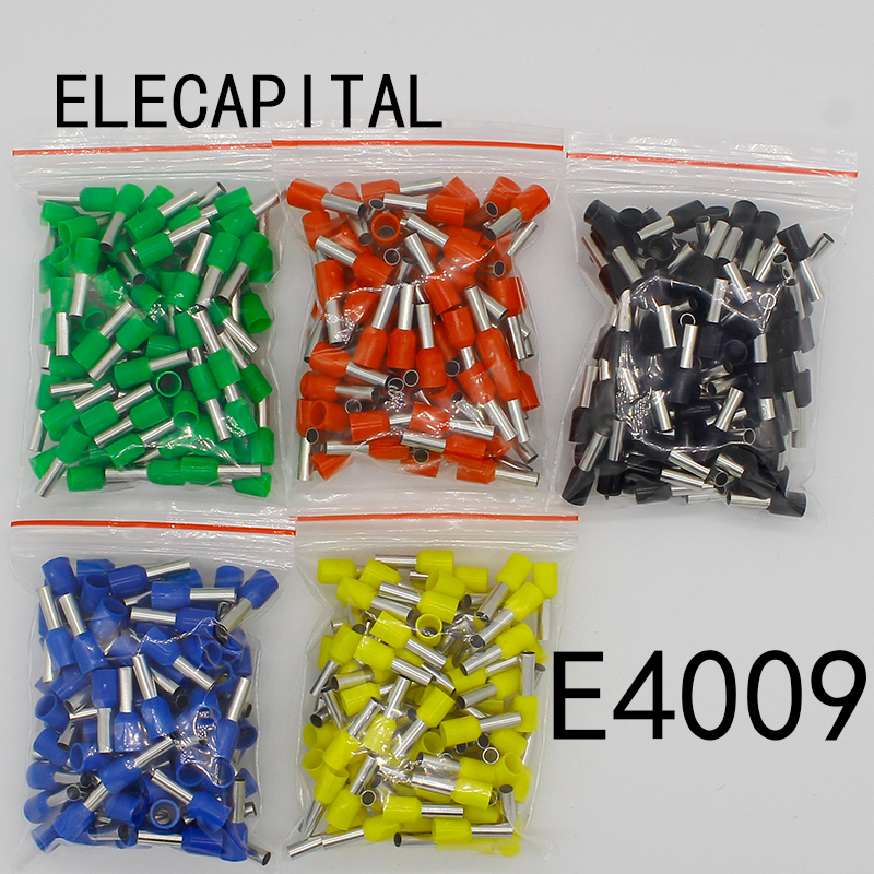 E4009 Tube insulating terminals 4MM2 100PCS/Pack Cable Wire Connector Insulated Insulating Crimp Terminal Connector E-