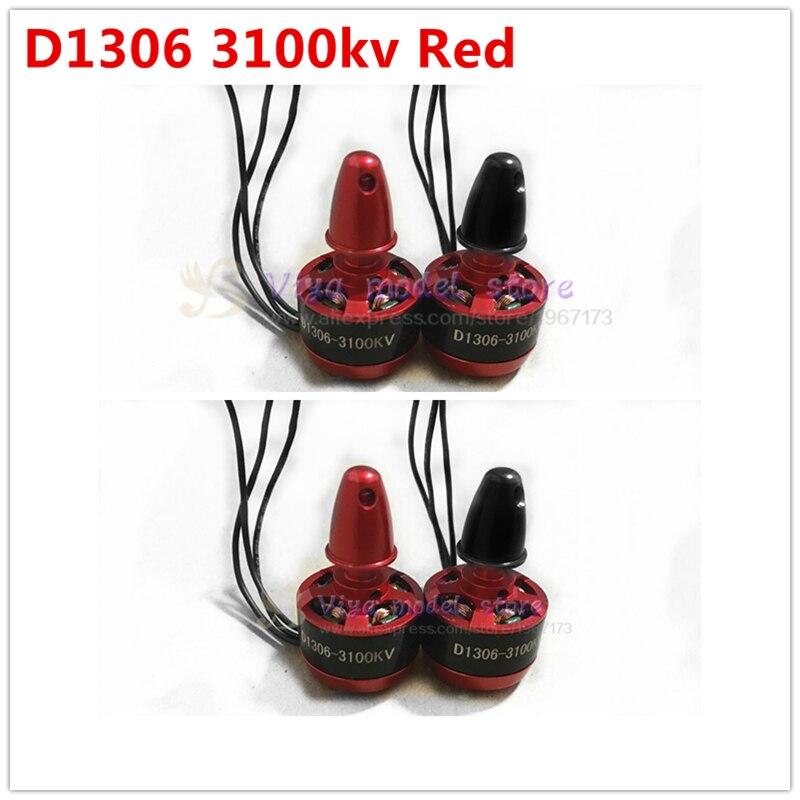 4PCS DIY FPV mini 1306 3100KV red Brushless Motor (cw/ccw) For DIY PFV drones mini race quadcopter QAV130/QAV210/180/ML200/190 lhi fpv 4x mt2206 2300kv cw ccw fpv brushless motor 2 4s 4 pcs racerstar rs20a lite 20a blheli s bb1 2 4s brushless esc