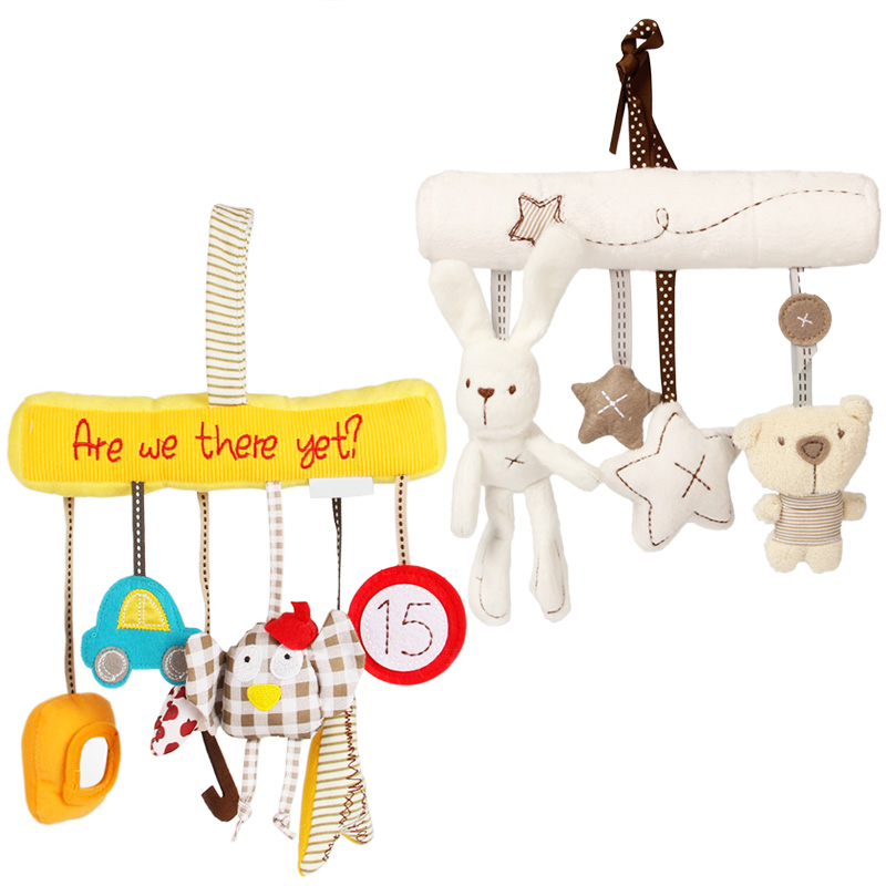 Baby Plush Rattle Crib Spiral Hanging Mobile Infant Stroller Bed Animal Toys Gift For Newborn Children 0-12 Months Happy Monkey #3