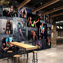 beibehang Custom Photo Wallpaper Creative Creative Sexy Beauty Gym Yoga Museum American Background Mural papel de parede(China)