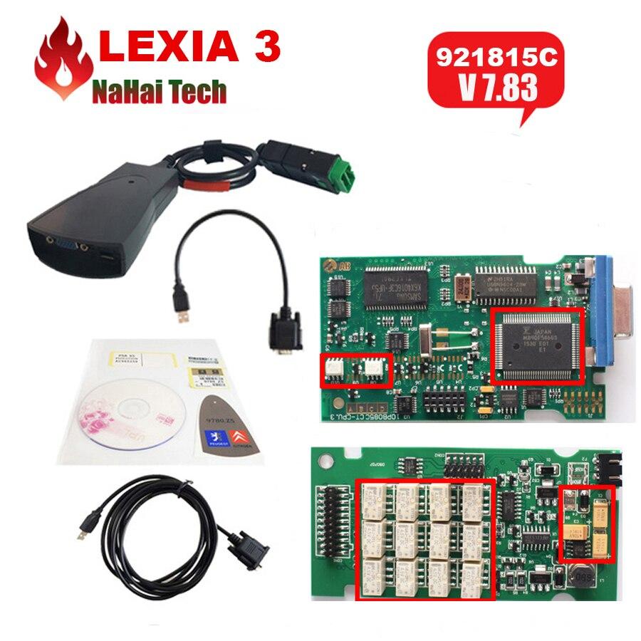 Цена за Горяч-продавая v48 Lexia3 Lexia 3 921815C FW Новые V7.82 7.82 Lexia-3 PP2000 V25 Diagbox для Ci-troen/пэу-geot Диагностический инструмент Диагностический сканер для автомобильной диагностики диагностика авто автосканер