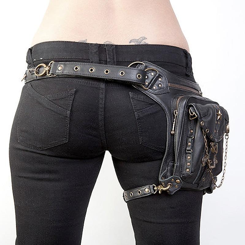Us 33 81 46 Off Norbinus Steampunk Waist Leg Bags Women Men Victorian Style Holster Bag Motorcycle Thigh Hip Belt Packs Messenger Shoulder In