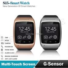 """ZGPAX S15 1,54 """"Bluetooth Smart Watch Armbanduhr Smartwatch für Samsung HTC Android Smartphone Phone Sync 8G Speicher & kamera"""
