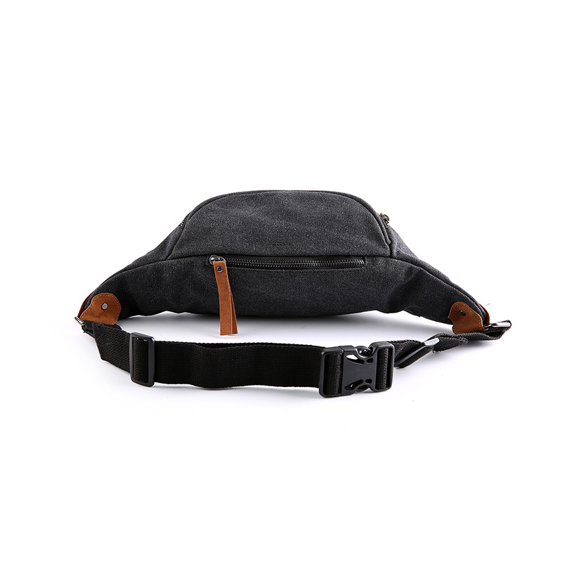 Mens Canvas Chest Bags Korean Style Casual Man Simple Solid Zipper Bags Sacoche Homme