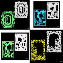 Square border Shape Die Cuts Metal Cutting Dies for Card Making DIY Scrapbooking Photo Album Decoretive Embossing Stencial square shape metal cutting die for card gift