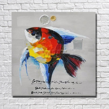 Modern Kitchen Art  Canvas  Wall Art  Oil Painting  Decor Home  Pictures With Framework Painting Animal Art  Fish Pictures