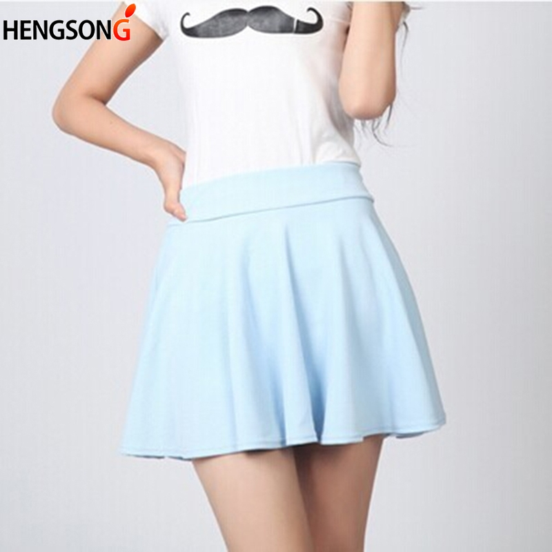Cute women mini pleated skirts fashion multi color female A-line Tutu skirts for women sweety Tennis skirt