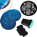 10 Nail Plates +1 Stamper + 1 Scraper Optional Nail Art Image Stamp Stamping Plates Manicure Template Nail Art Tools