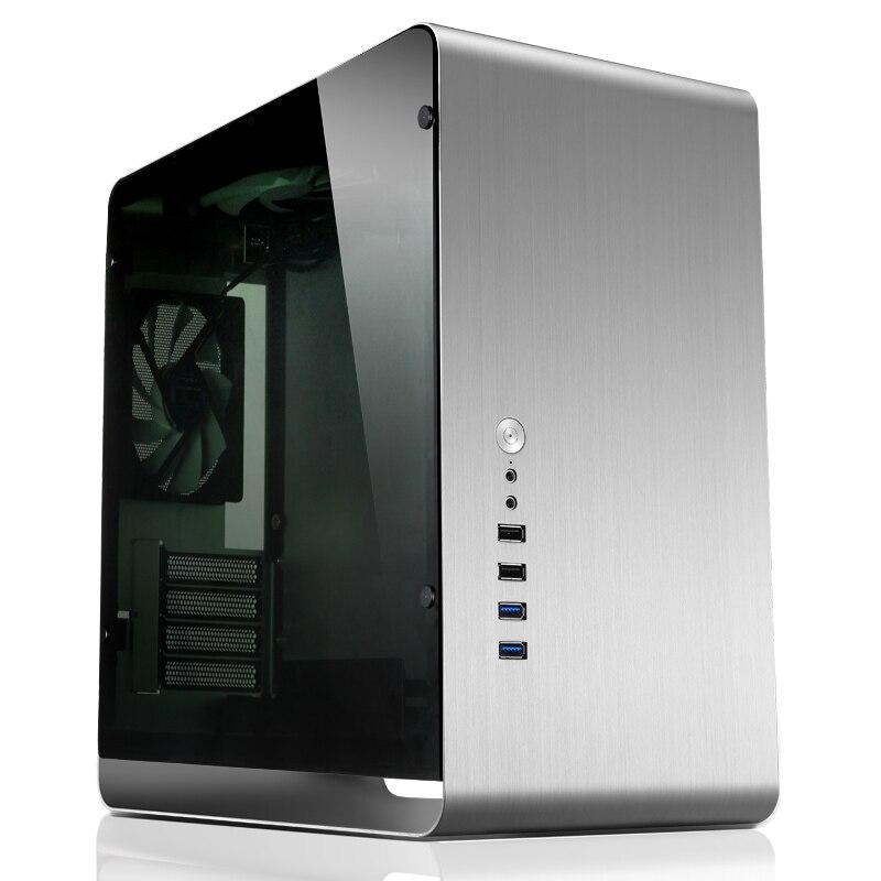 Чехол для компьютера JONSBO UMX3, внутренний стальной внешний алюминиевый корпус, поддержка материнских плат MicroATX, корпус компьютера USB3.0