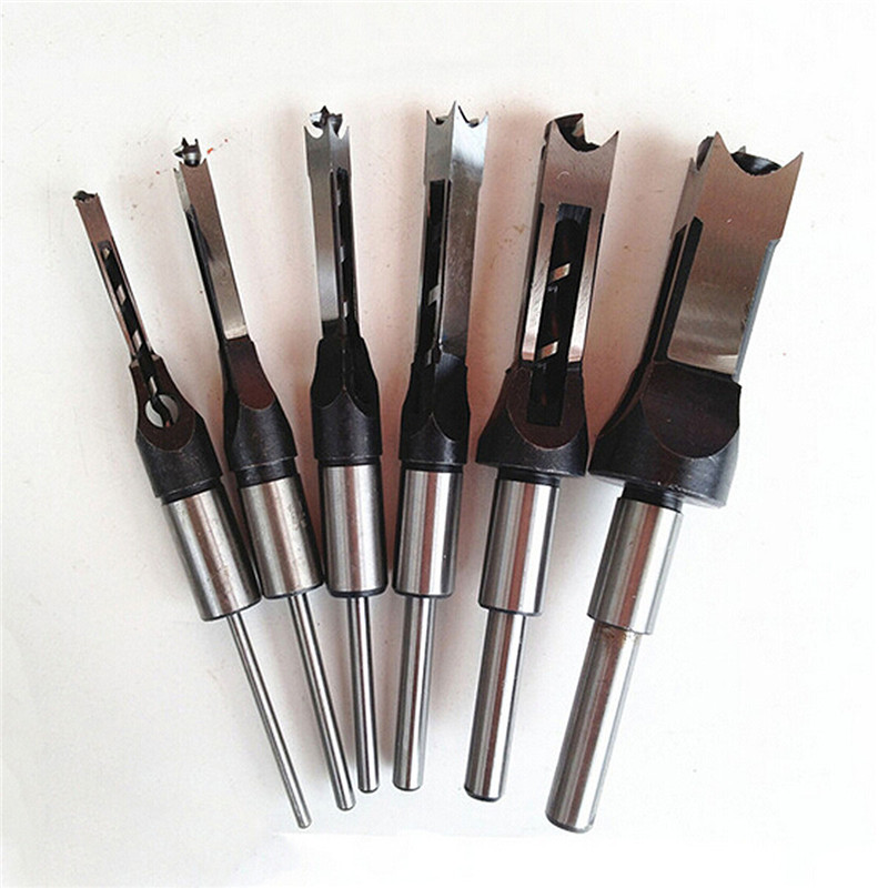 Broca de aço de alta velocidade broca métrica mortising cinzel carpintaria buraco quadrado broca cortador ferramenta 1/2 drill 3/8 '5/16 drill 1/4 drill broca de madeira
