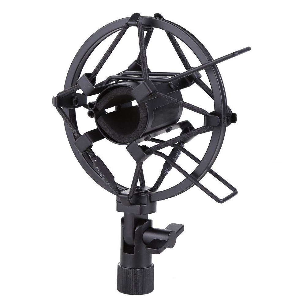 Microphone Shock Mount 25MM For 23MM-27MM Diameter Condenser Mic Black
