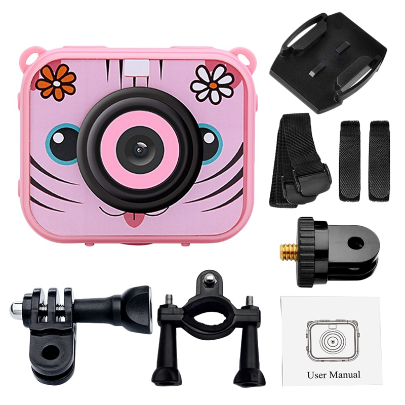 Image 4 - Cute Kids Digital Video Camera 1080p Action Sports Camera 30m Waterproof Built In Battery Gifts Present For Children Boys Girl-in 360° Video Camera from Consumer Electronics