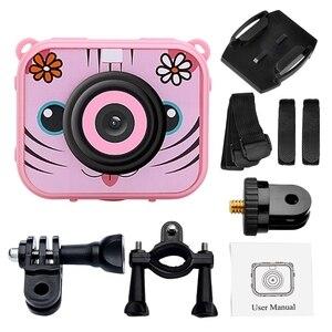 Image 4 - Linda cámara de vídeo Digital para niños 1080p cámara de deportes de acción 30m batería integrada impermeable regalos presentes para niños y niñas