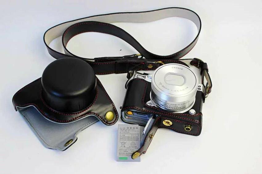 Kamera Mit Unteren 10 Objektiv Vintage Pu J51j5 Öffnung 1 Nikon 30mm Leder Tasche In Us17 deluxe Edition 39 Retro Batterie Für 13Off E2D9WYeIH