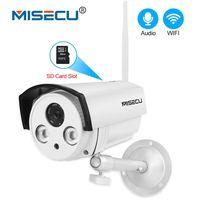 MISECU H 264 Audio SD Card 1080P IP Wifi Camera Sound 2pcs Array LED P2P Email