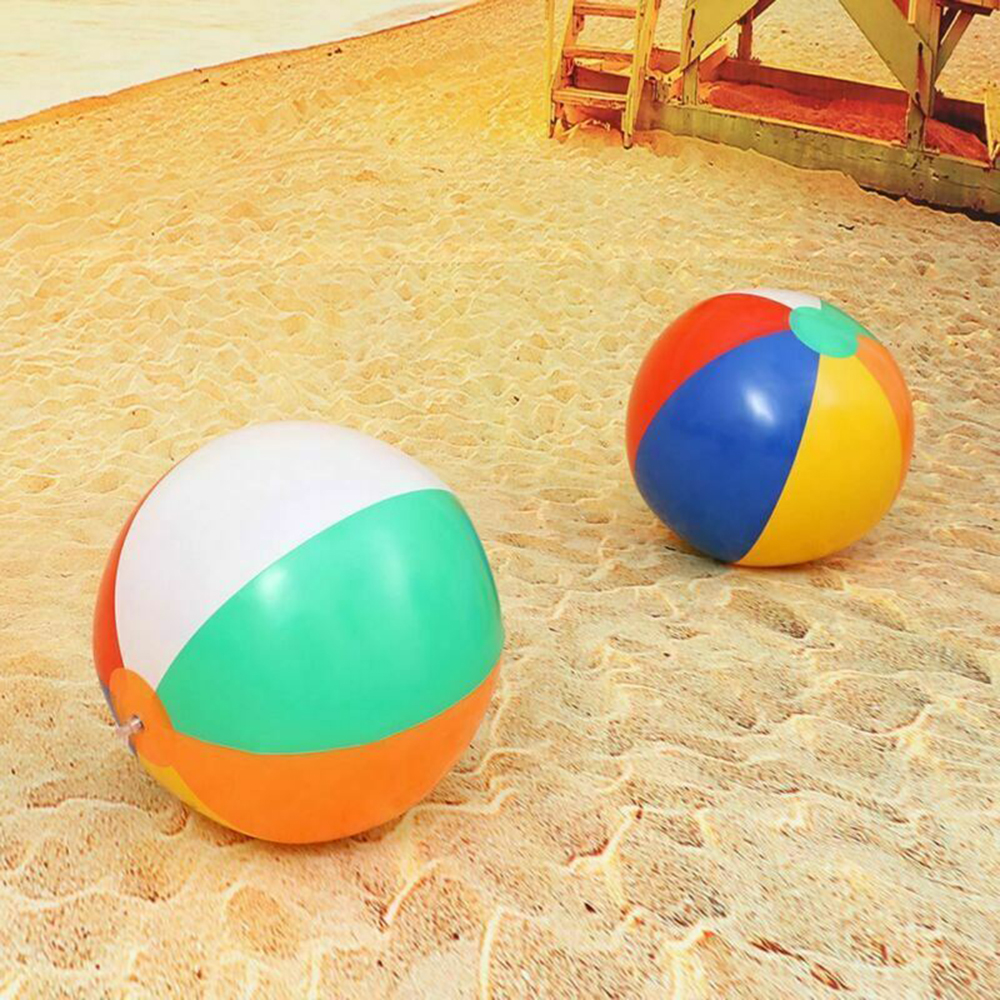 1PCS Inflatable Beach Ball Kid's Water Birthday New Year Christmas Halloween Gift Toy Ball Colorful