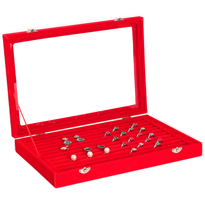 Wholesale Jewelry Display Wood Pattern Casket Senior Jewelry Box