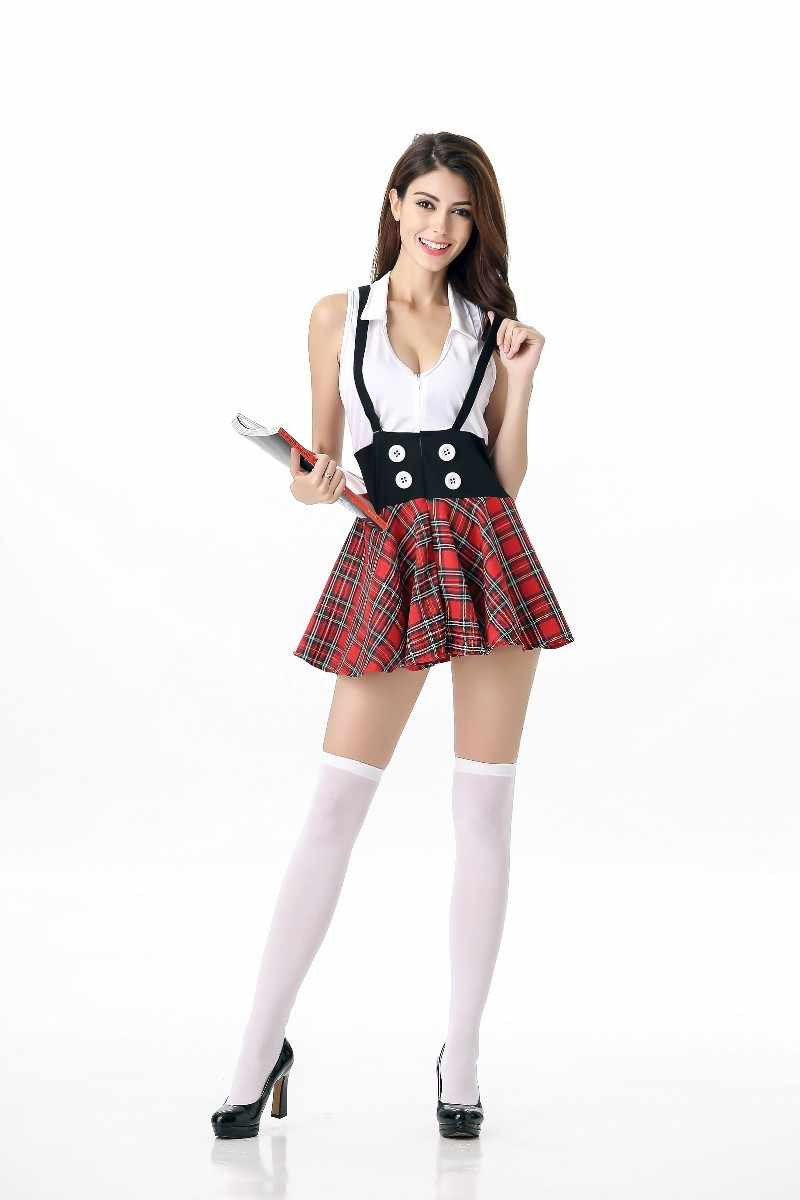 cfec1a6b7a3 ... NEW WOMENS LADIES SEXY NAUGHTY SCHOOL GIRL HEN DOO FANCY DRESS PARTY  OUTFIT