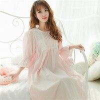 Princess Sweet Lolita Chinese Style Hanfu Cotton Nightgowns Sleepshirts Retro Style Girls Home Wear QQ043