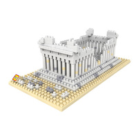 World Famous Architecture LOZ Mini Diamond Building Block Ancient Civilization Athena Greece Temple Nanoblock Model Toys