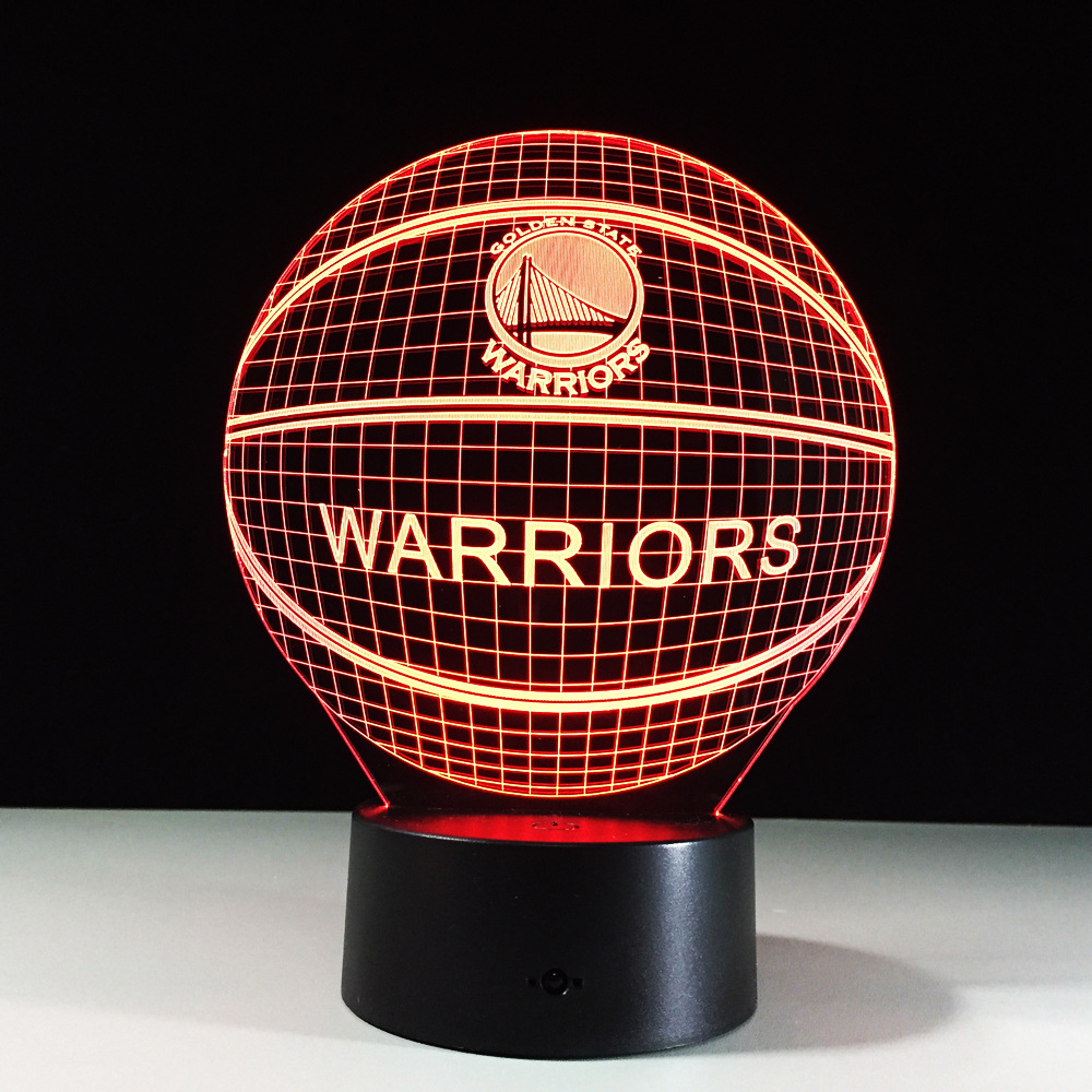 USB / 3*AA Baterry 3D Basketball Lamp 7 Color Change Touch Switch Bedroom Bookcase Night Light Home Decor Creative Gift led night light 7 color changing touch switch bedroom bookcase beside lamp portable for bedroom living room or camping