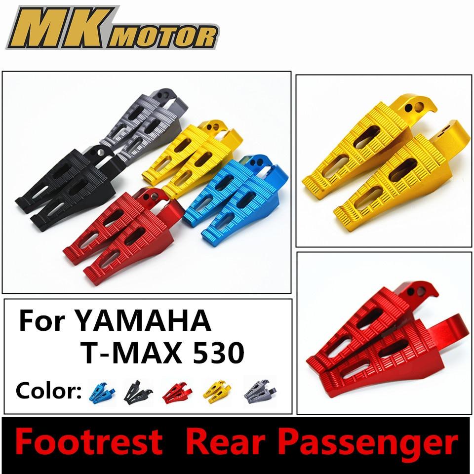 CNC Aluminum Motorcycle  Rear Foot Peg Footrest  Rear Passenger Footrests For Yamaha Tmax T-max  530  Five colors cnc aluminum motorcycle rear passenger foot pegs pedals footrests for yamaha tmax 500 tmax 530 t max500 t max530 t max mt07 mt09