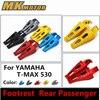 CNC Aluminum Motorcycle Rear Foot Peg Footrest Rear Passenger Footrests For Yamaha Tmax T Max 530