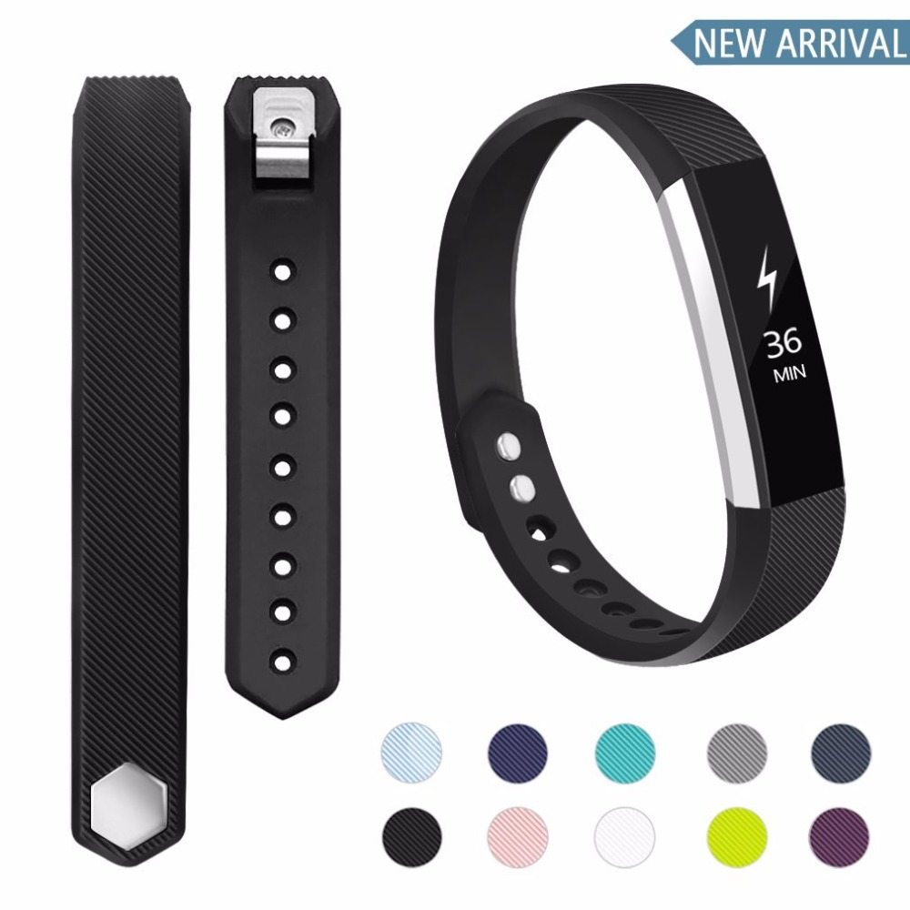 15 Colors Silicone Watchband High Quality Replacement Wrist Band Silicon Strap Clasp For Fitbit Alta HR Smart Wristband Watch ...