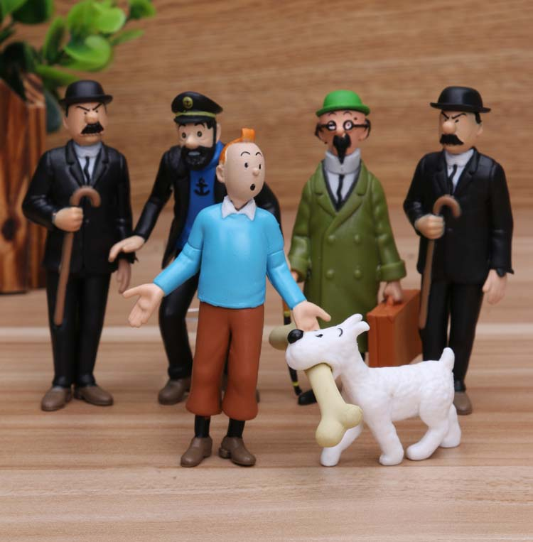 Action-Figures Collectible-Model Tintin Anime Cartoon PVC 4-9cm The of
