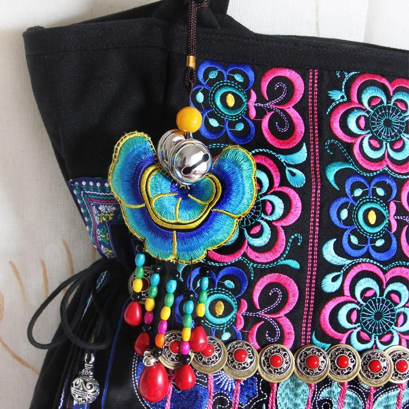 Indien Boho 2016 Hippie Embroidered Marque Toile À De Bohême Ethnique Sac Emoridered Main Femme Dos Gland Hmong Femmes Célèbres Luxe XwqXg1E