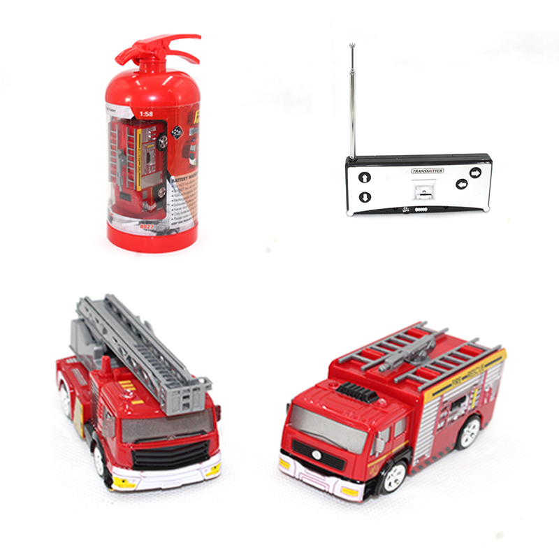 RC Car 1:58 Mini Remote Control Fire Truck Fireman Toy Car Model Oil Tanker Toy Boy Car Car Children Education Toy Gift 2 Types