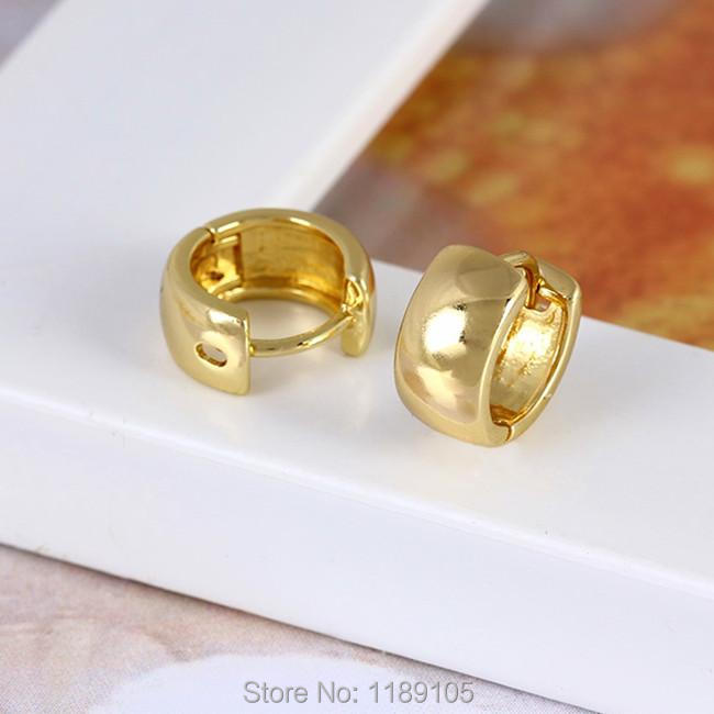 14k Yellow Gold Filled Over Semi Precious Metal Earring