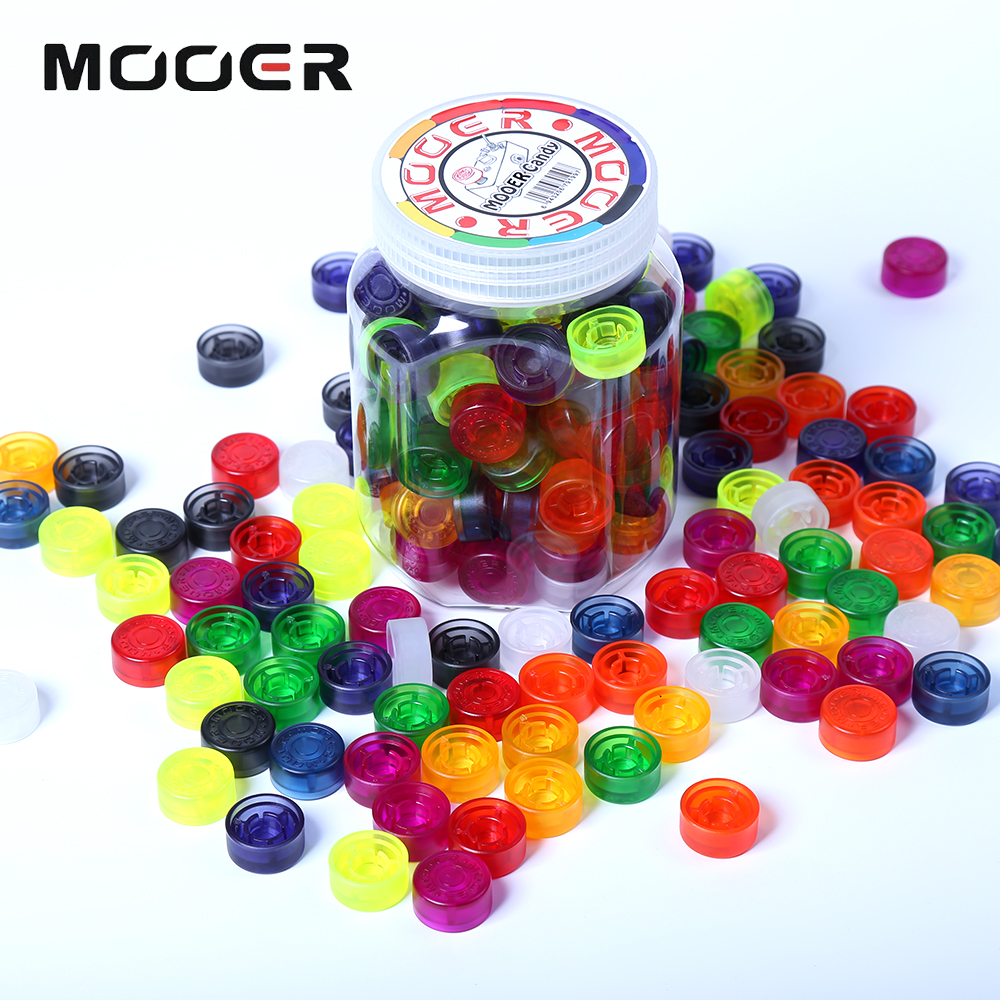 Фотография Mooer Candy Footswitch Topper with 10 Different Color Colorful Plastic Bumpers 100 pcs For Guitar Effect Pedal