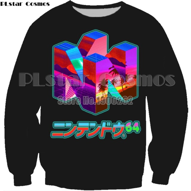 ecba497c PLstar Cosmos 2018 New Fashion Mens 3d sweatshirt Nintendo 64 Vaporwave  Snowy Mountain Collection Printed Crewneck Pullovers